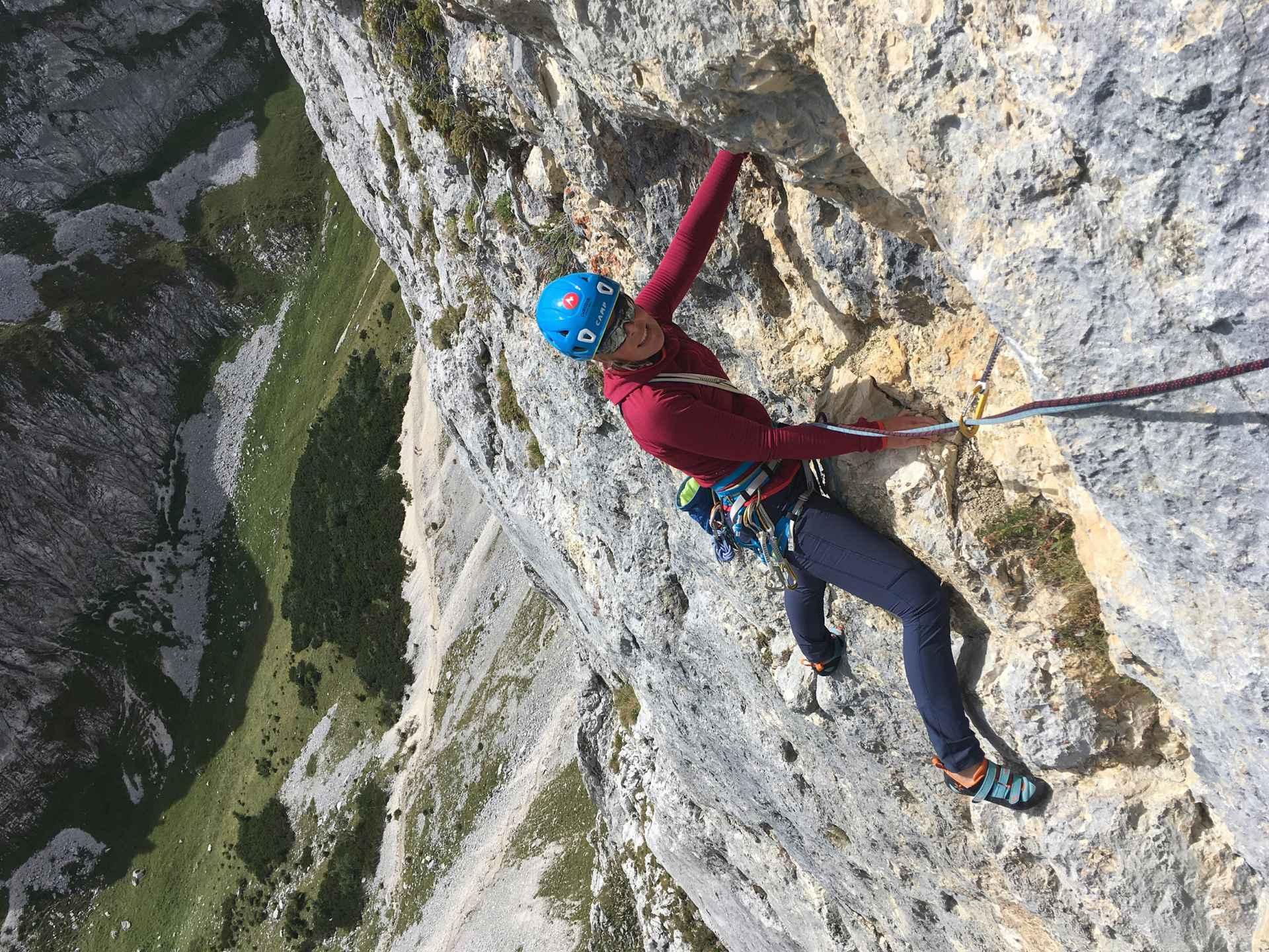 Imagefoto met de SPARROW Ws, Klettertour Alix von Melle September 2019