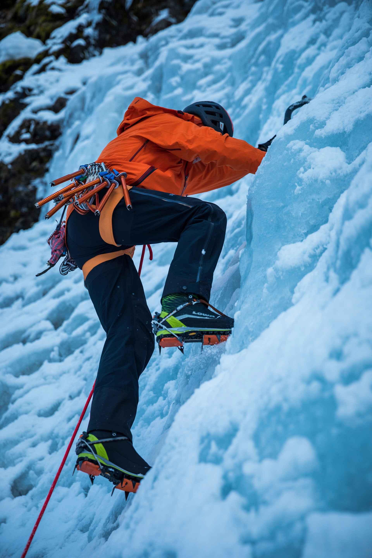 Imagefoto met de ALPINE ICE GTX®, Eiskletterevent Kolm Saigurn