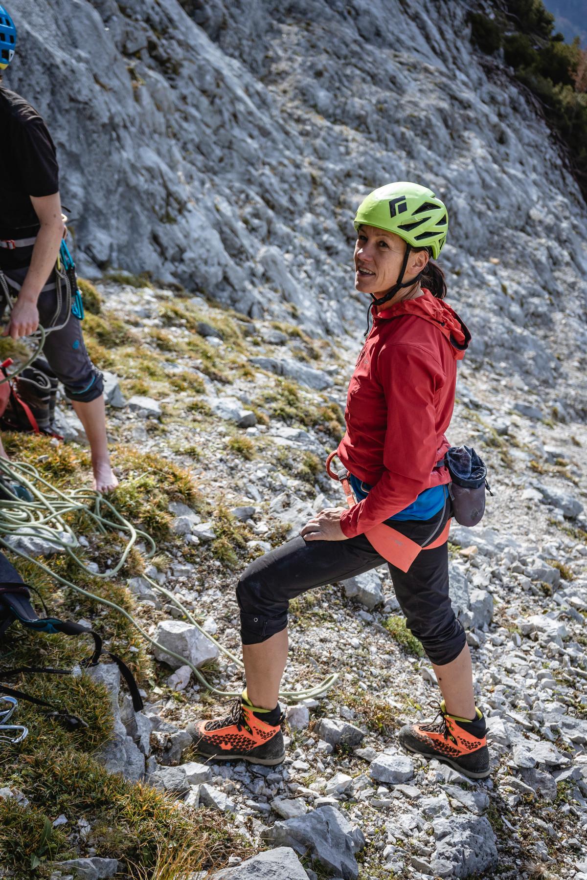 Het schoeisel van een bergsporter is als het ware zijn