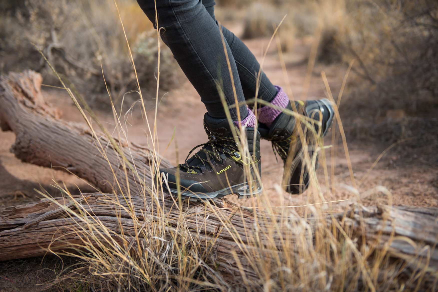 It's certainly not ladylike. But it definitely can meet the anatomic needs of women's feet: LOWA's LADY III GTX. This nubuck-leather boot is anything but a wall flower as its robust and adventure-loving qualities demonstrate. Female adventurers can confidently cross challenging terrain thanks to the VIBRAM® NATURAL sole with the distinct front and heel profile. The integrated GORE-TEX membrane creates a seal of protection from feet-soaking moisture. It's a boot designed to take on the challenges faced during long hikes and trekking tours in low and high mountains.
