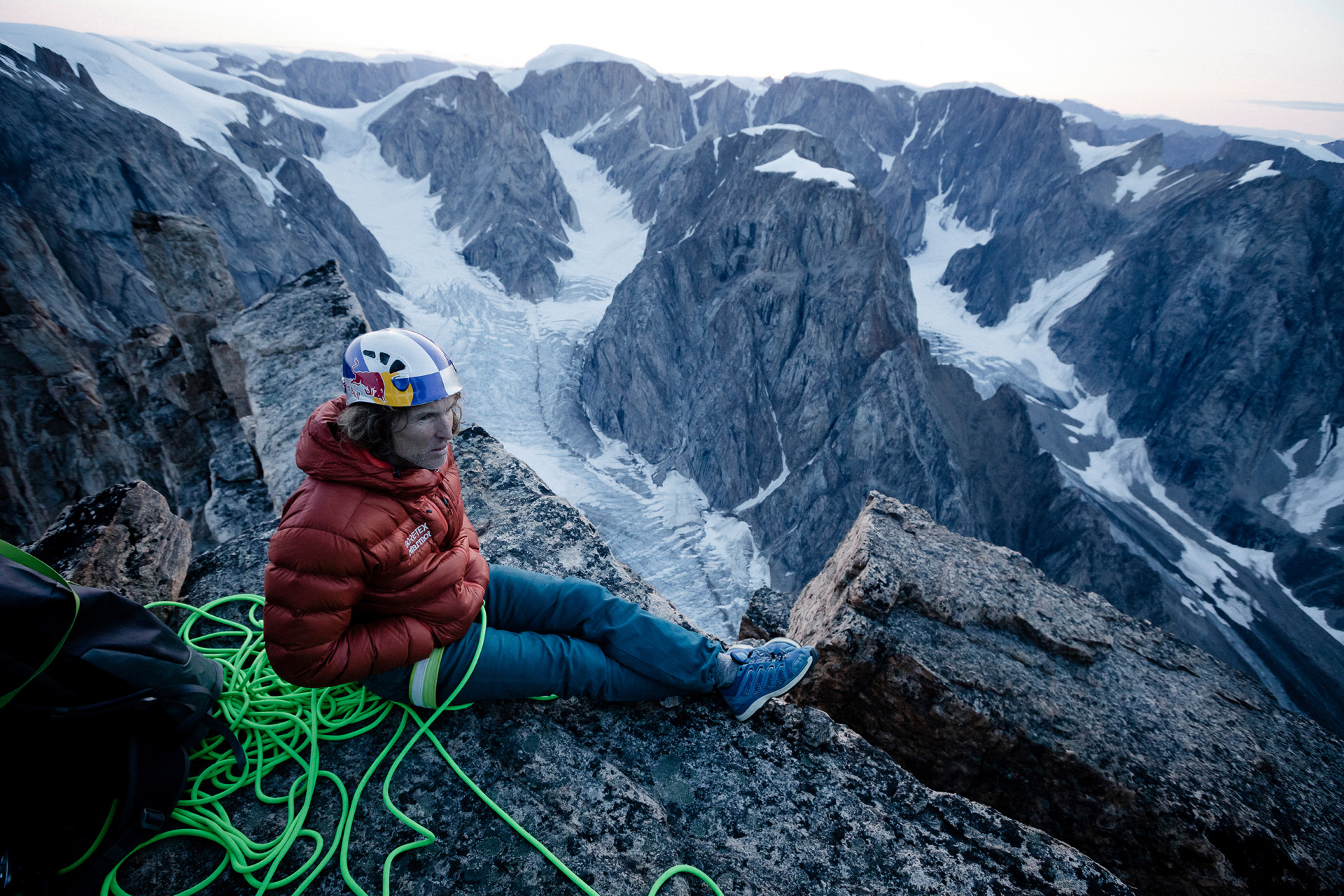 Imagefoto met de MADDOX GTX LO, Stefan Glowacz Grönland 2019