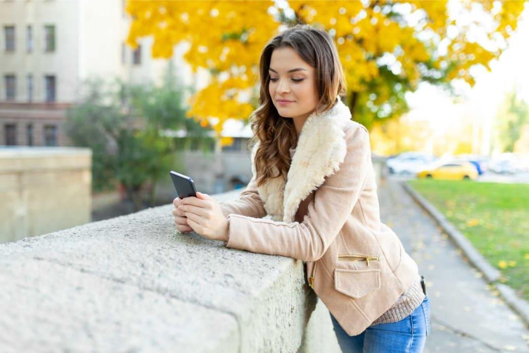 girl browsing her phone
