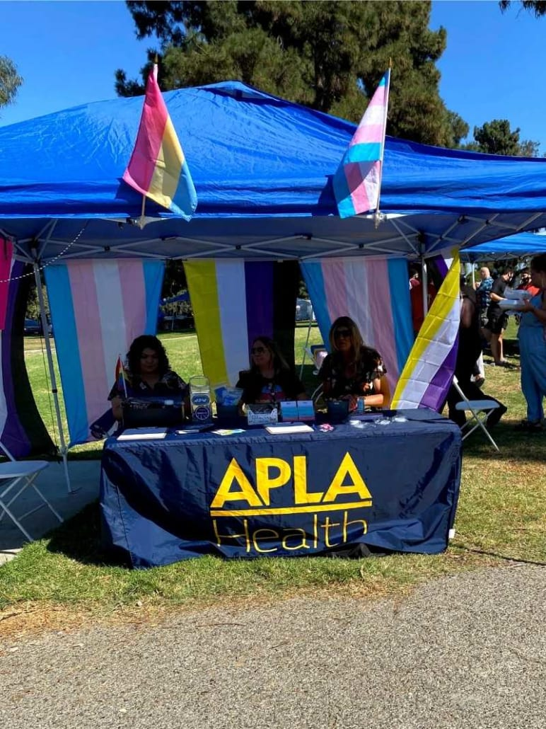 APLA Booth at Long Beach Trans Pride Festival