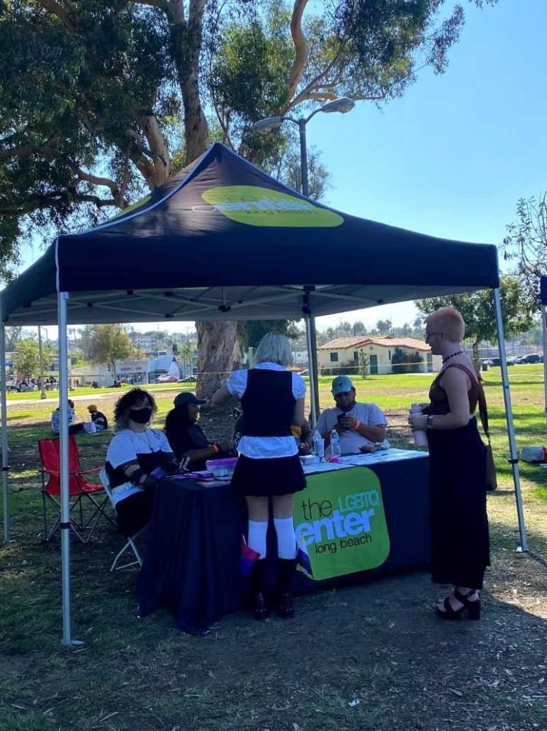 The LGBTQ Center Long Beach Booth at the Trans Pride Festival