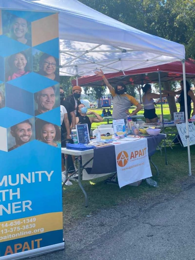 APIT booth at Trans Pride Long Beach Festival