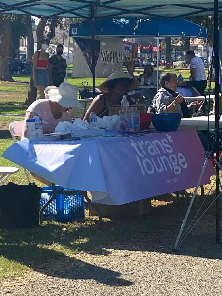 TransLounge booth at Trans Pride Long Beach Festival
