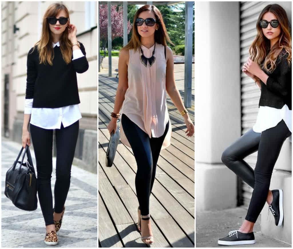 leggings negros con bluson