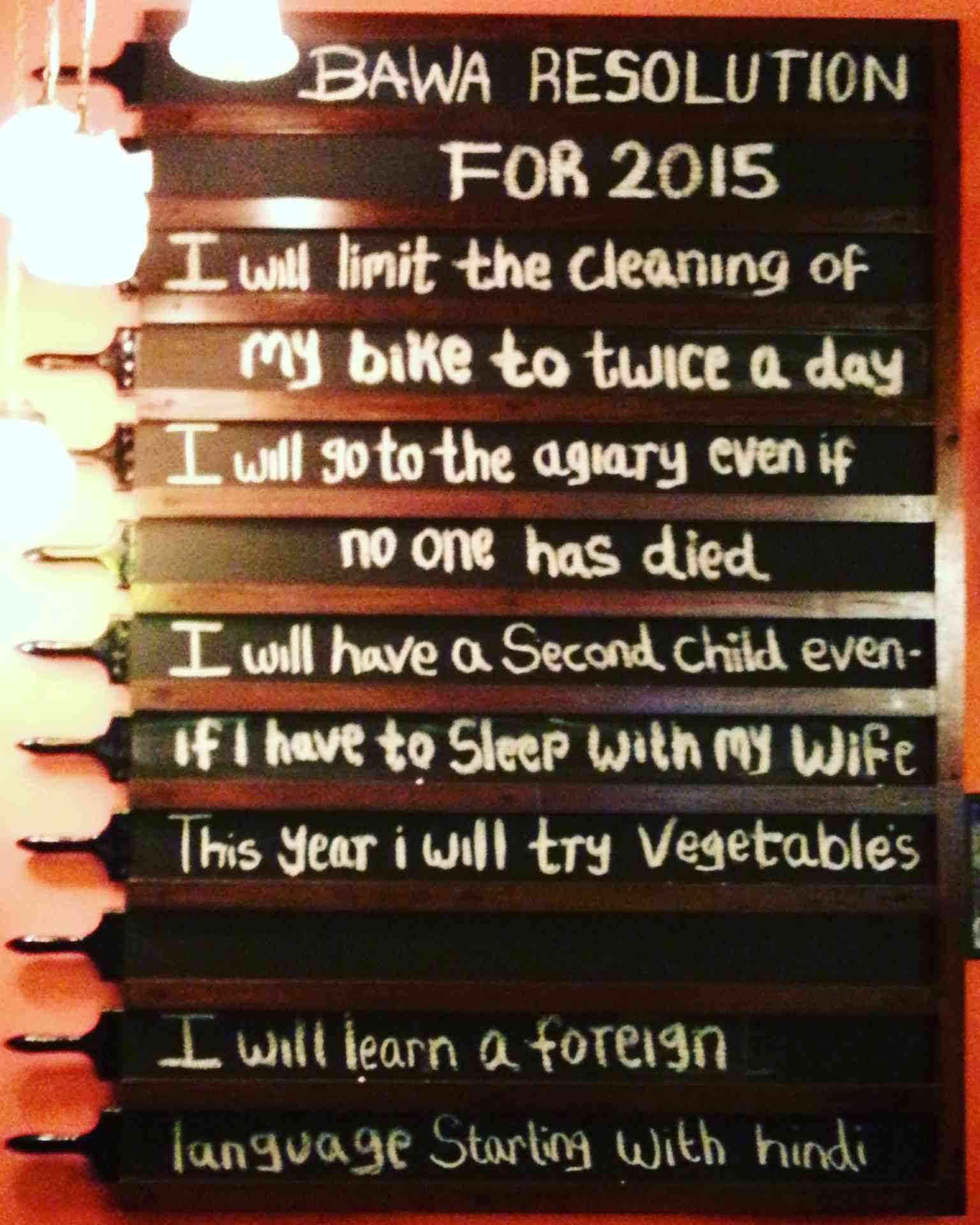 Bawa Resolutions for 2015