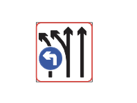 Lane use control directional restriction