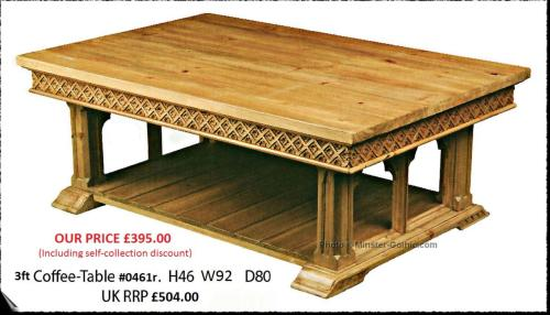 Enjoyable Gothic Style 3Ft Coffee Table 0461R Download Free Architecture Designs Xerocsunscenecom