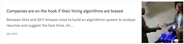 Biased hiring algorithms