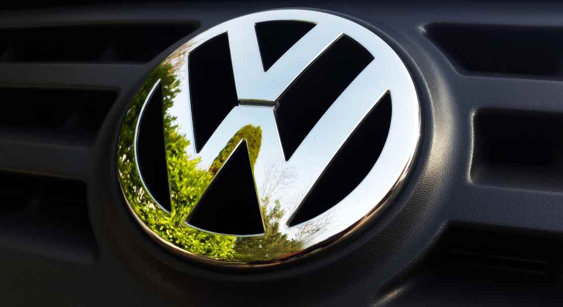 Volkswagen logo that could be on your company car if you get a Volkswagen car