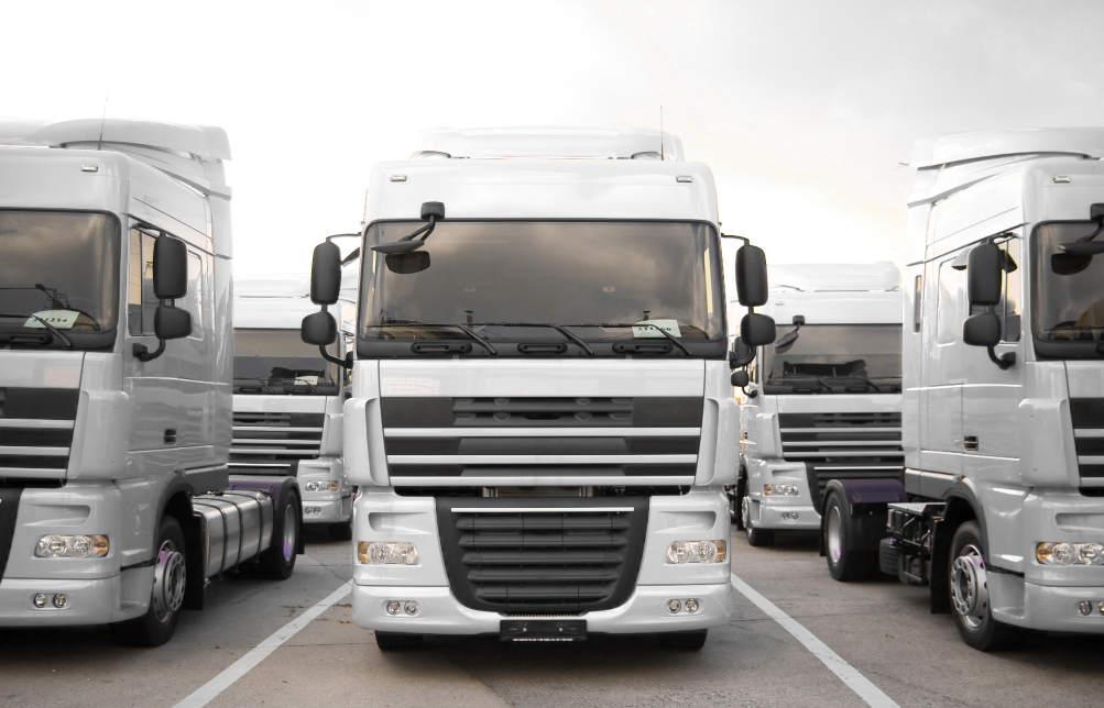 HGV trucks parked