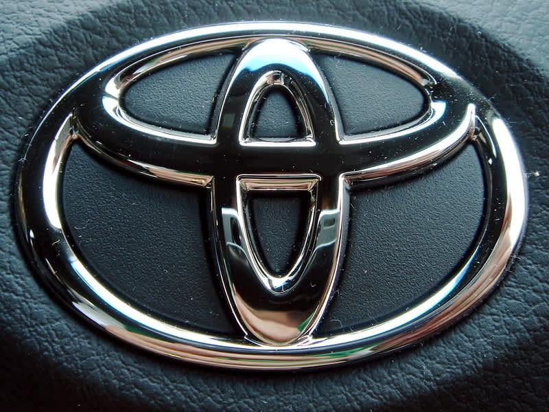 A Toyota logo for a fuel efficient car