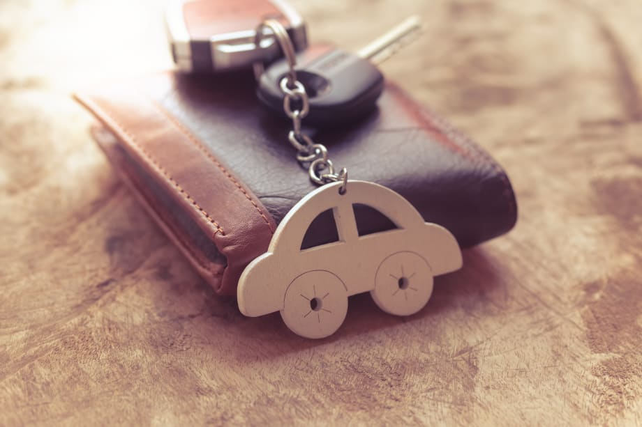 Car keys and wallet