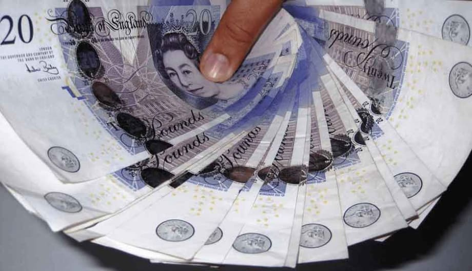 Handful of £20 notes