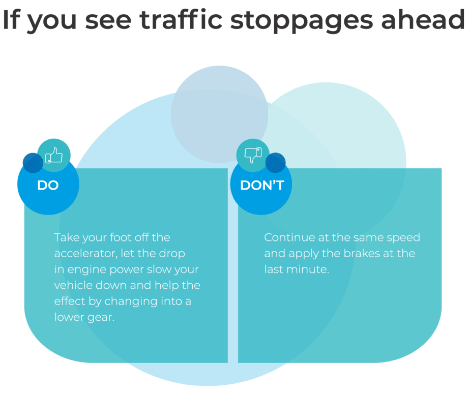 traffic stoppages ahead graphic