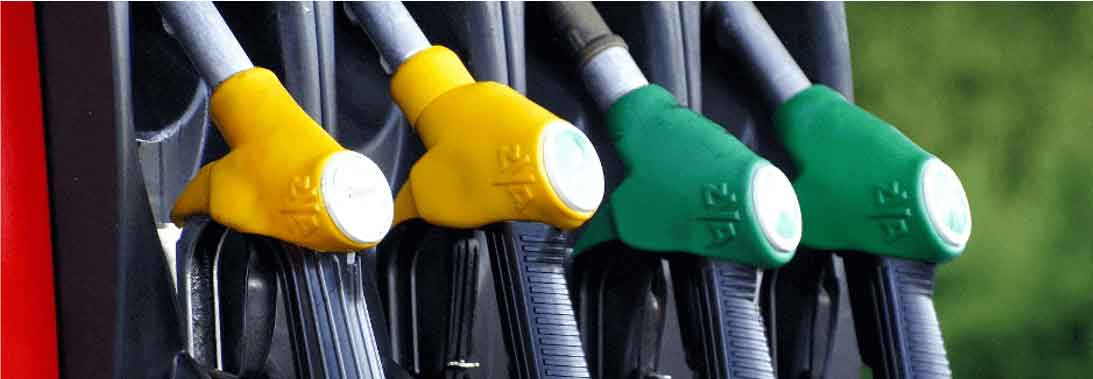Two yellow fuel pumps and two green fuel pumps might be used to refuel a company car at HMRC advisory fuel rates