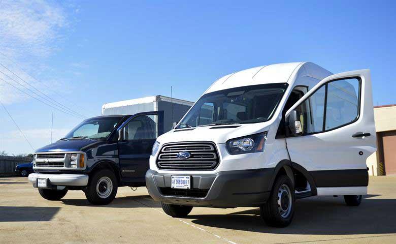 Two vans outside