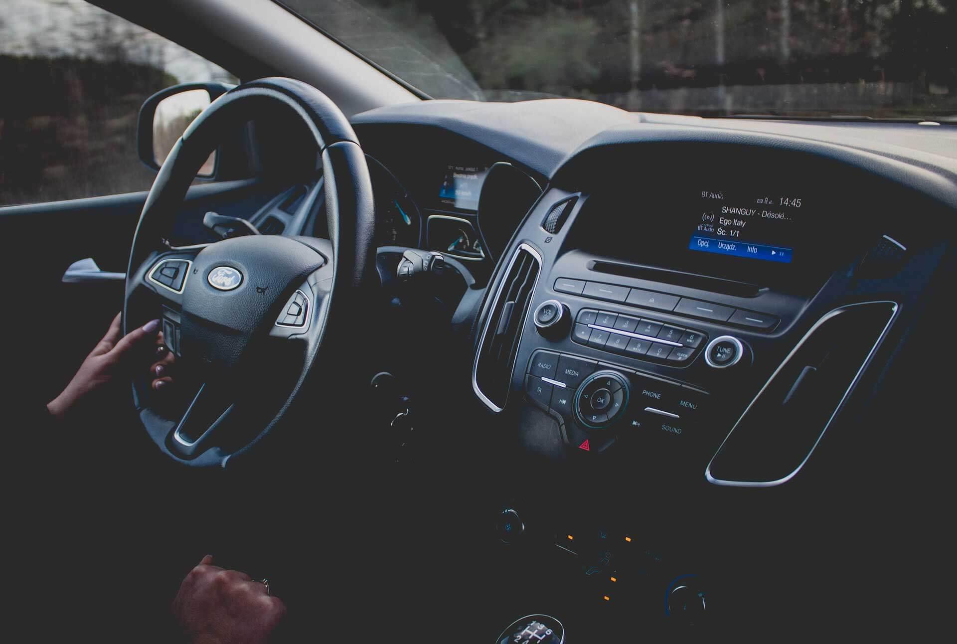 Ford car dashboard