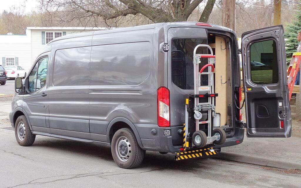 grey transit van