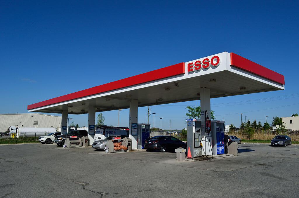 An Esso fuel station
