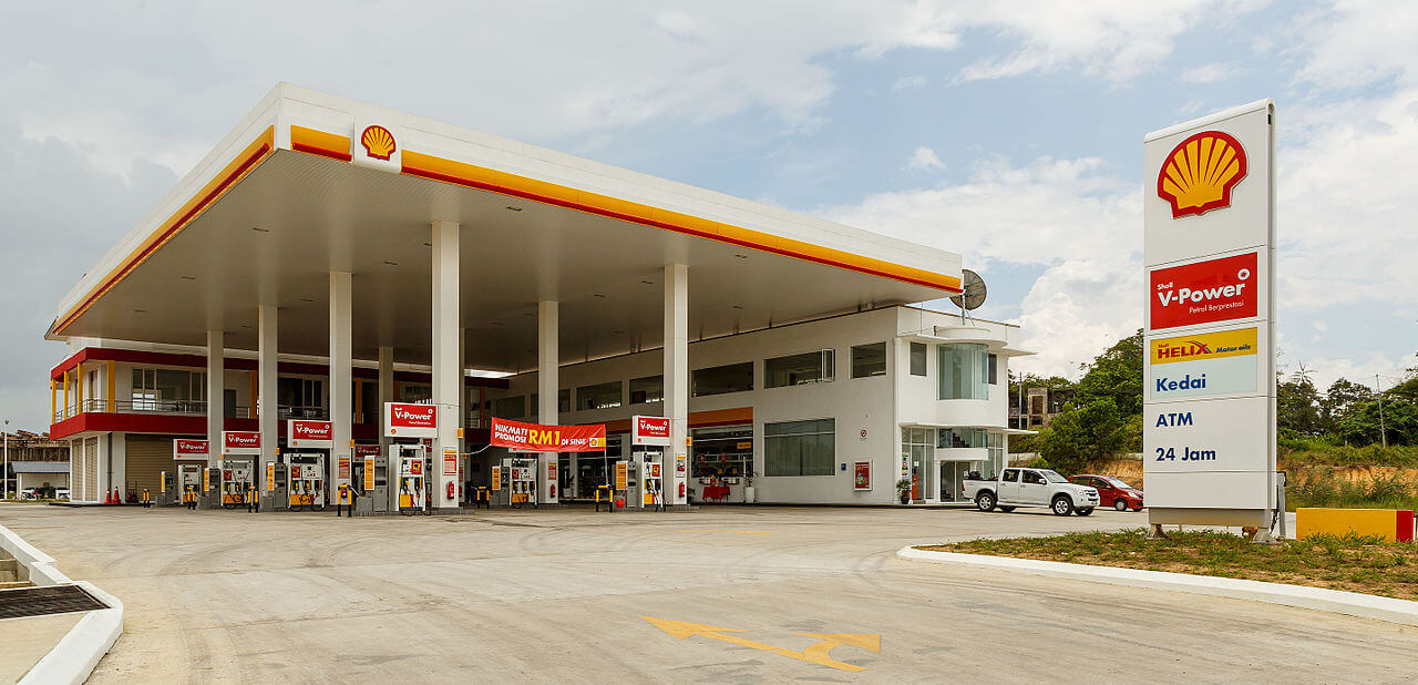 Shell fuel station
