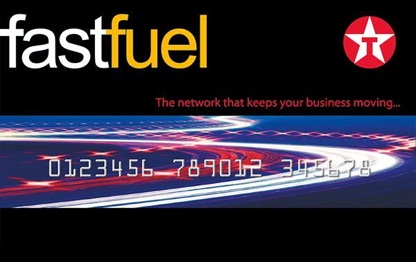Texaco Fastfuel taxi fuel card