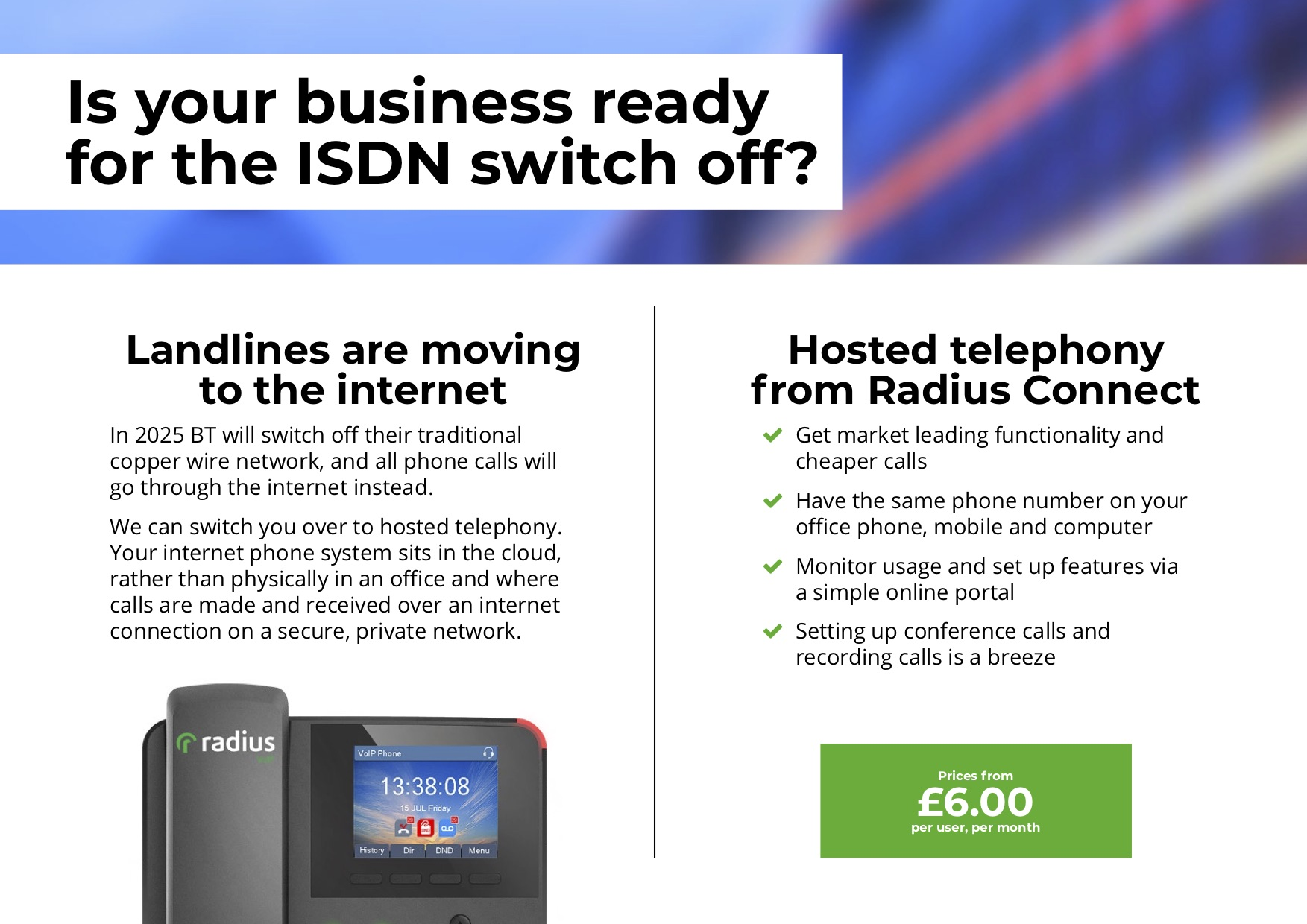 Hosted Telephony - Is your business ready for the ISDN switch off?
