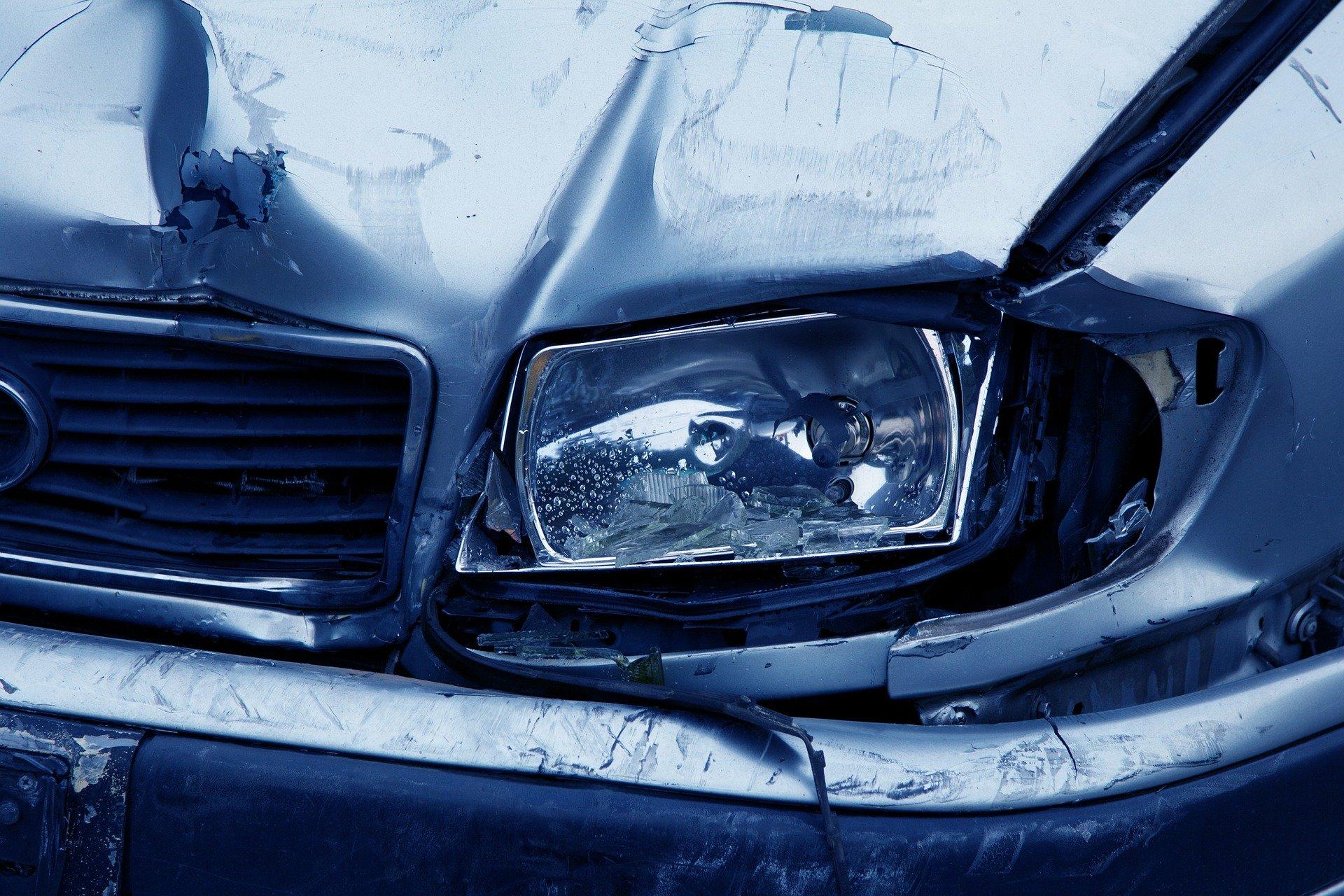 damaged car after collision