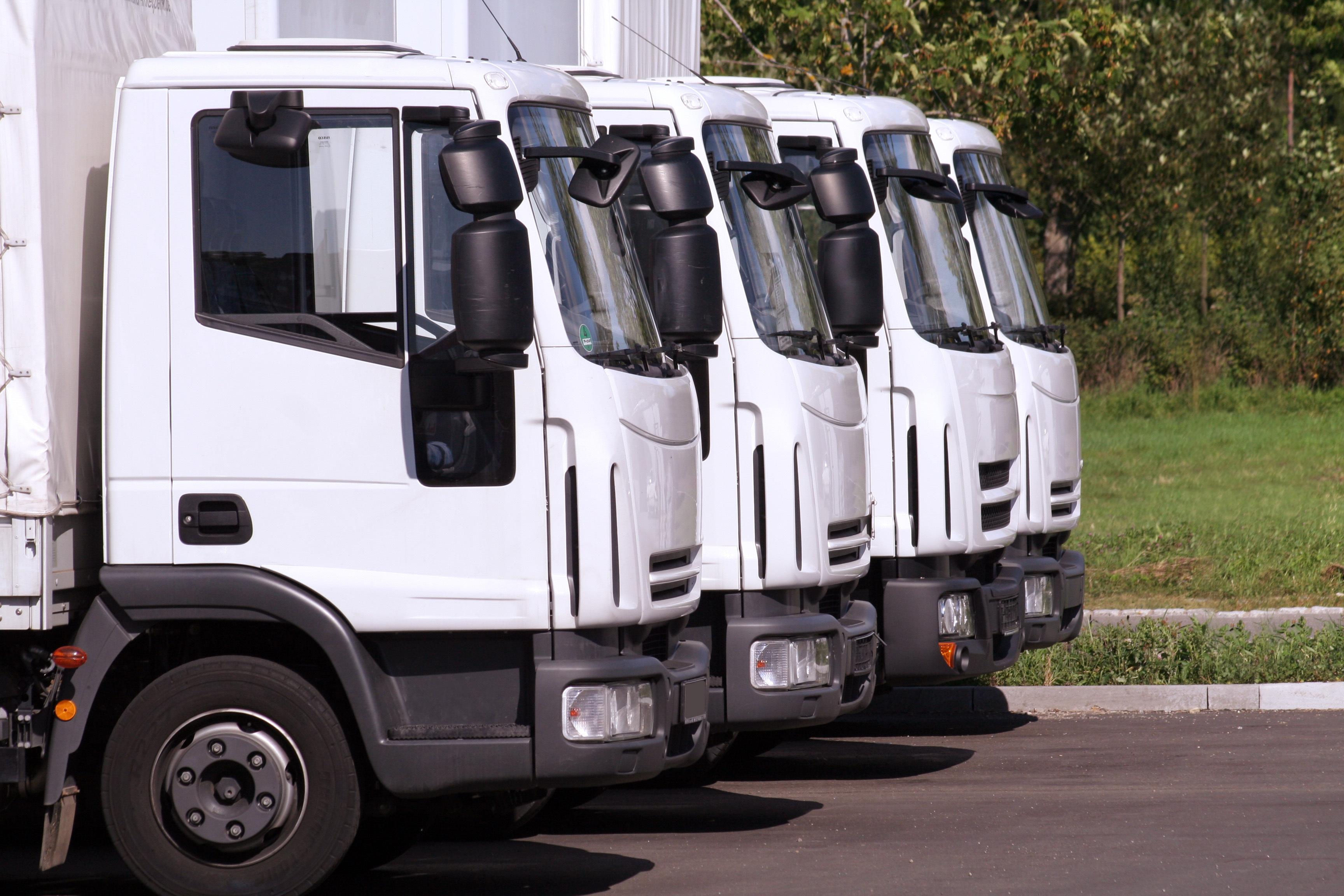 A line of HGV trucks that use telematics