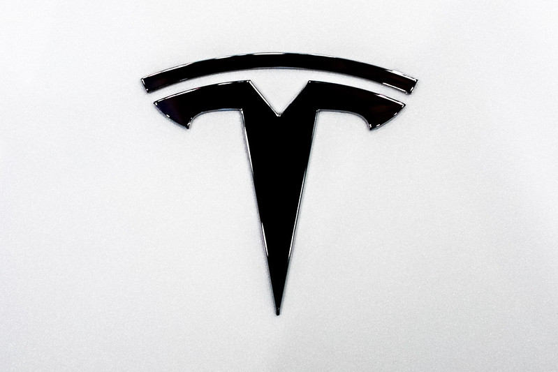 Tesla logo that could be on your company car if you get a Tesla car
