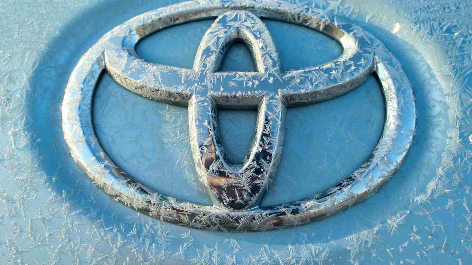 A Toyota logo for one of the car brand's plug in hybrids