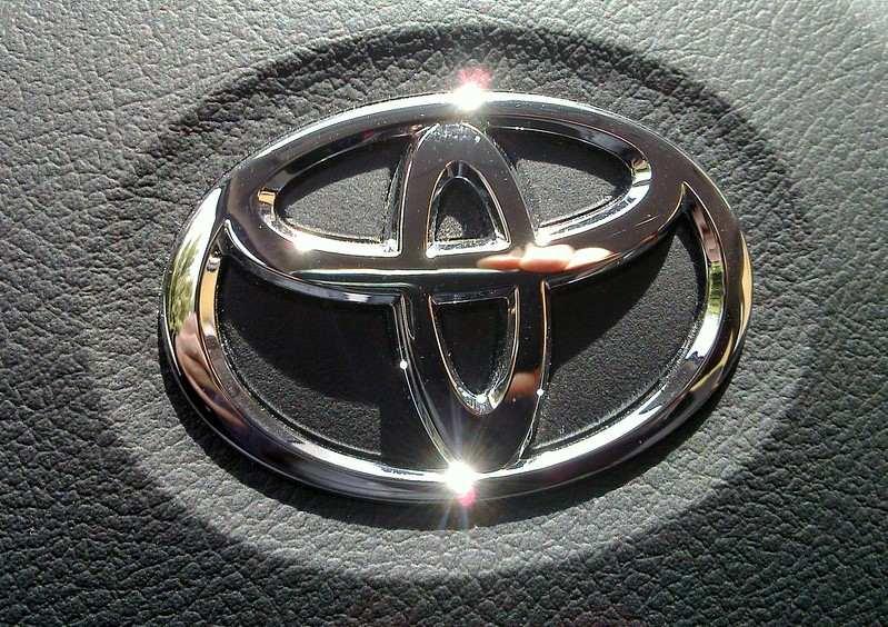 A Toyota logo for an impressively economical car