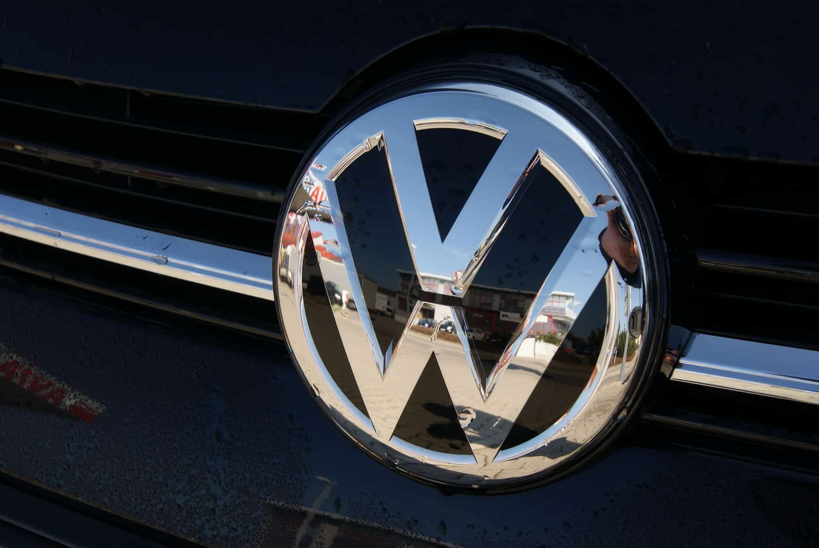 The Volkswagen logo is displayed but you should look beyond the brand when you buy a motor and compare car insurance quotes for the model you like