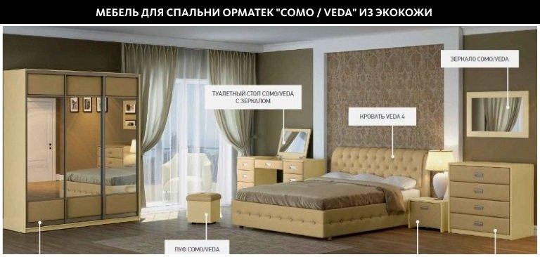 Мебель для спальни Орматек из экокожи