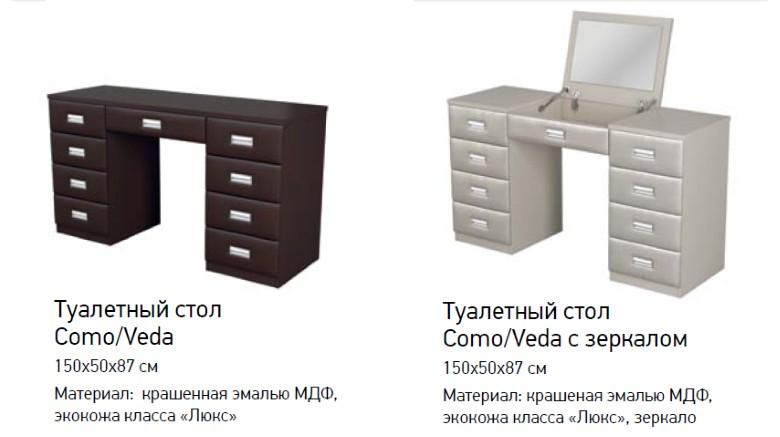 Туалетный столик Como/Veda