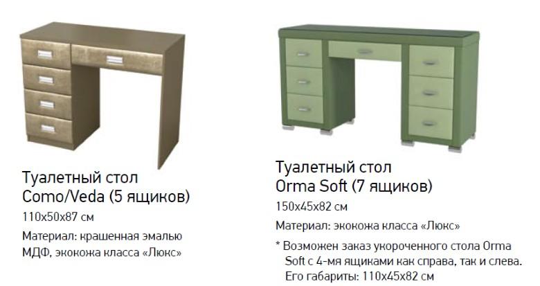 Туалетный столик Como/Veda - Orma soft 2