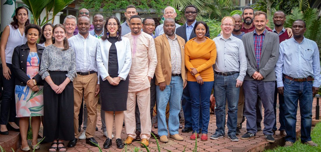 SURG-Africa team with colleagues from Zambia, Tanzania, Malawi, UK, Ireland and the Netherlands.