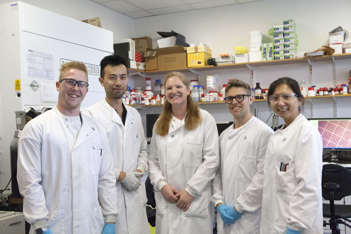 L-R: Ben White, Victor Lu, Helen Townley, Cindy Huang, James Perring