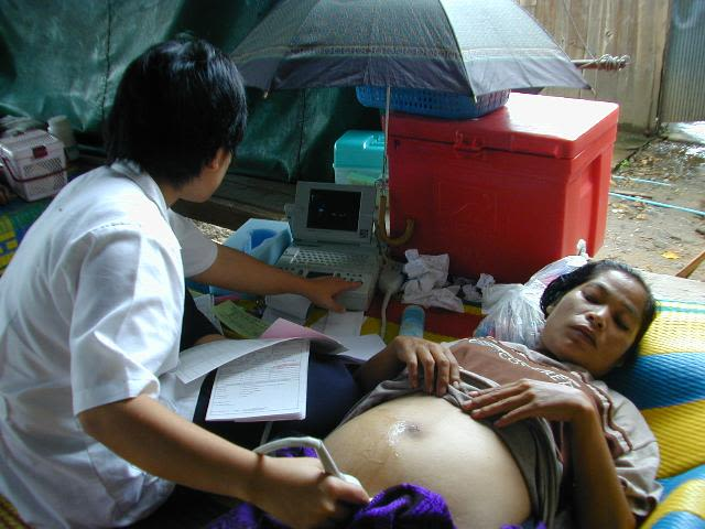 Patient at the Thai/Myanmar border