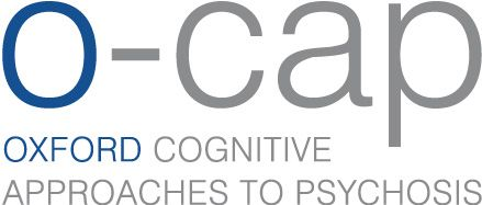 Oxford cognitive approaches to psychosis (O-CAP) logo.  A link for the main o-cap page is provided below.