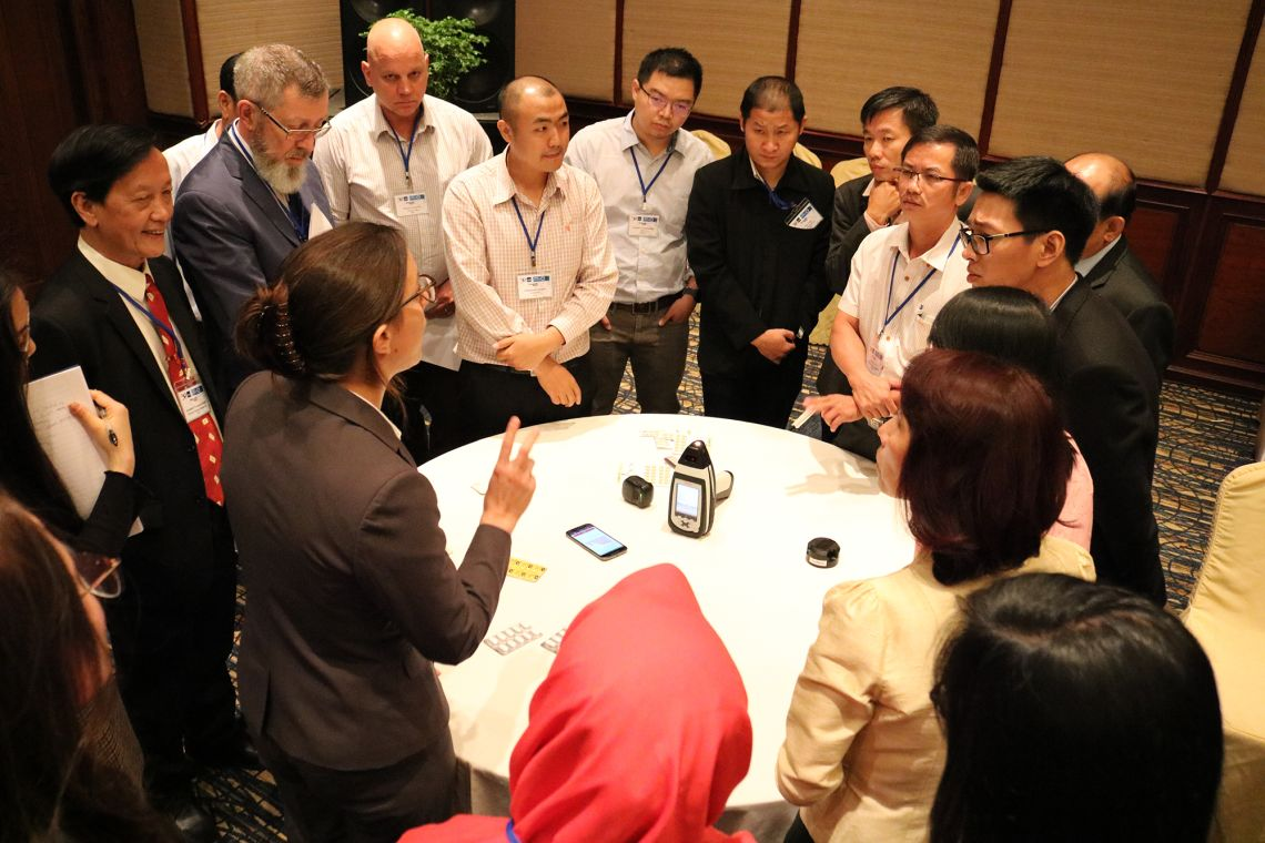 Medicine quality screening devices' hands-on session with medicines regulators from the GMS countries
