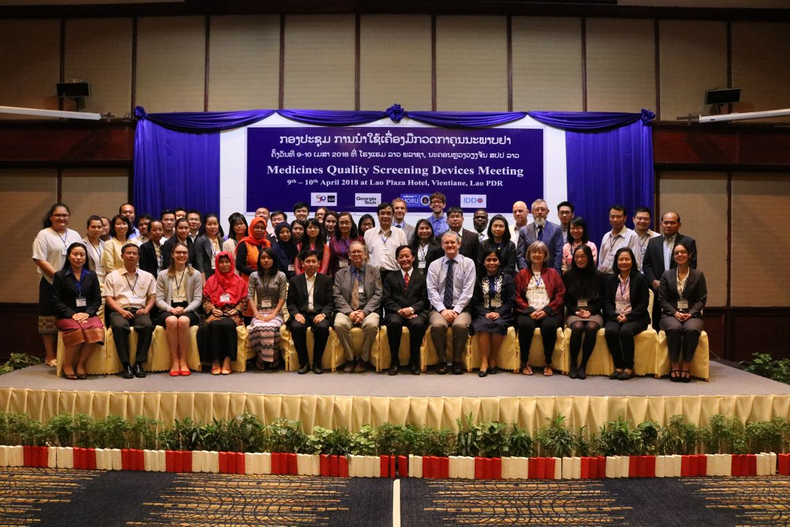Medicines quality screening devices workshop with GMS medicines regulators in Vientiane to present the results of the work done by the medicine quality team