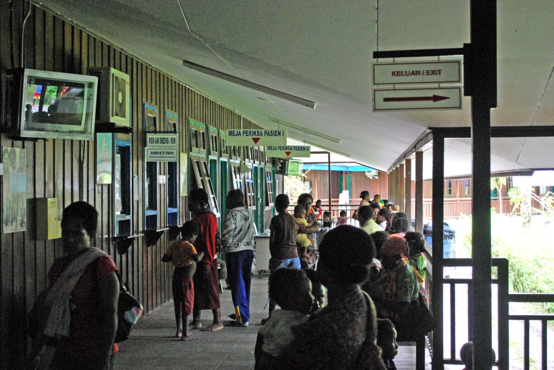 Outpatient clinic in Papua Indonesia