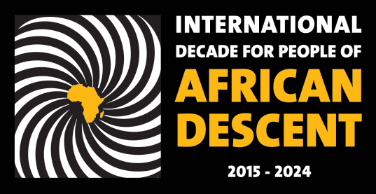 International Decade for People of African Descent 2015 - 2024 (logo in English)