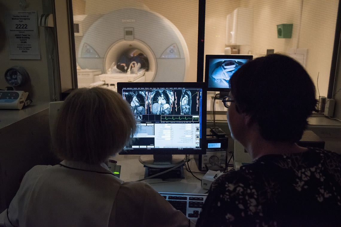 During MRI scan