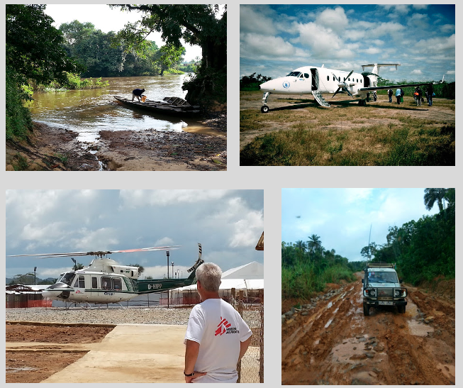Travelling to find suitable partner sites for rapid clinical trials in Guinea, Sierra Leone and Liberia, 2014