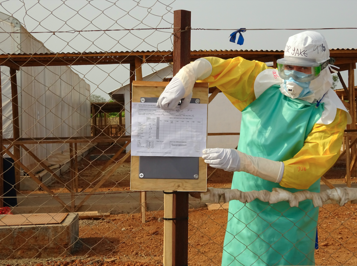 Using photography to transfer clinical trial data from within the red zone of an Ebola Treatment Centre