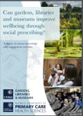 Front cover of the Gardens, Libraries and Museums report